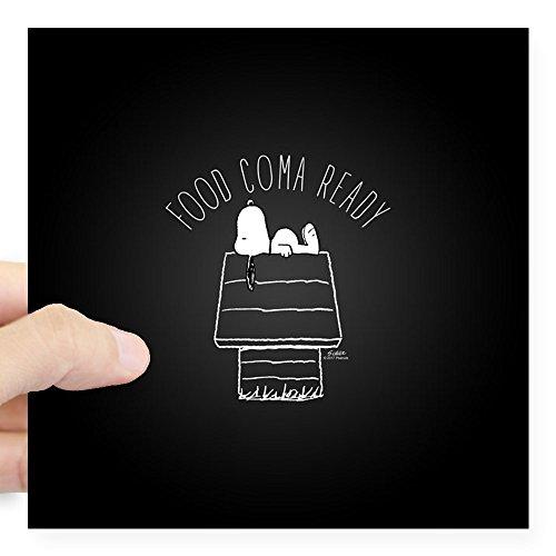 CafePress - Food Coma Ready Square Sticker 3
