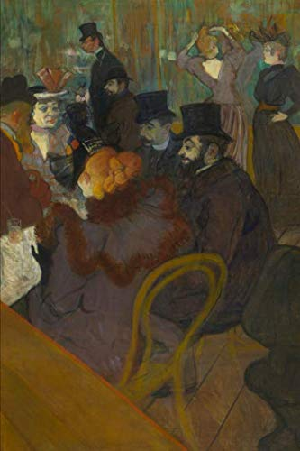 Art Journal: Henri de Toulouse-Lautrec - At the Moulin Rouge - Art Cover College Ruled Notebook | 110 Pages