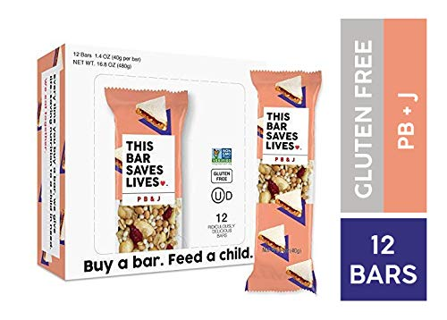 (Gluten Free Granola Breakfast Bar, Peanut Butter & Jelly by This Bar Saves Lives, 1.4 oz, 12 bars)