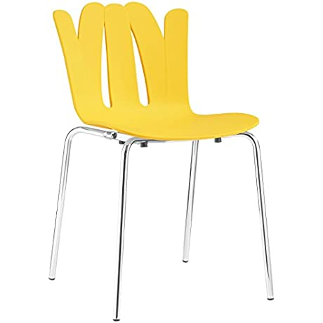 Modway Flare Dining Side Chair Yellow