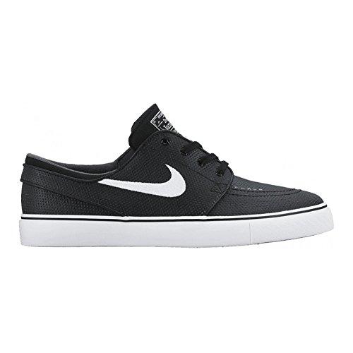 Nike Zoom Stefan Janoski L, Zapatillas de Skateboarding para Hombre, Negro / Blanco / Gris (Black / White-Wolf Grey), 43 EU