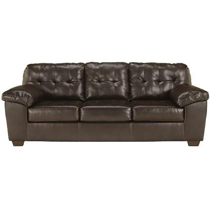 Ashley Furniture Signature Design   Alliston DuraBlend Contemporary Sofa    Chocolate