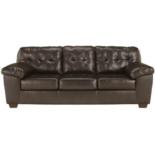Flash Furniture Signature Design by Ashley Alliston Sofa in Chocolate DuraBlend (Apartment Size Living Room Furniture)