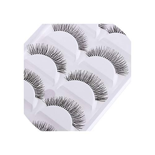 5 Pairs Natural Cross False Eye Lashes Daily Natural Charming Make up Long Sparse Fake Eyelashes,12mm
