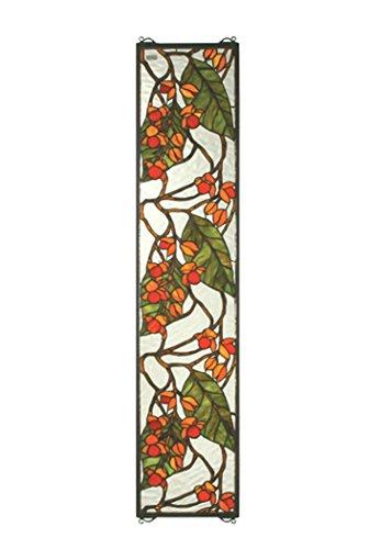 "Meyda Tiffany 35971 Bittersweet Stained Glass Window, 9"" ..."