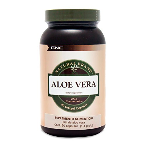 Aloe Vera Gel Softgel Capsules - GNC Natural Brand Aloe Vera Gel 90 Softgel Capsules