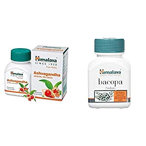 Himalaya Wellness Pure Herbs Ashvagandha General Wellness – 60 Tablets & Himalaya Wellness Pure Herbs Brahmi Mind Wellness – 60 Tablet