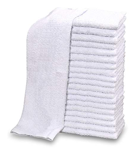 GOLD TEXTILES 60 PC New 100% Cotton White Restaurant Bar Mops Kitchen Towels 28oz (5 Dozen) (60, -