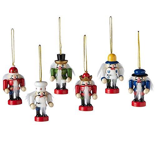 Midwest CBK Mini Nutcracker Ornaments, 6-piece set - 128235