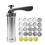 TODAYTOP DIY Household Stainless Steel Tube Extrusion Stencil Machine 20 Flower chip Cookie Cutters Cookie Maker Machine Simple Success Cookie Press