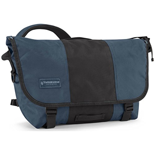 Timbuk2 Classic Messenger Bag - Medium - Dusk Blue/Black w/ Free Performance 22oz Bottle