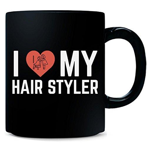 I Love My Hair Styler Creative Cool Job Typography Design - Mug (Custom Styler)
