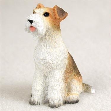 Wire Haired Fox Terrier Miniature Dog Figurine