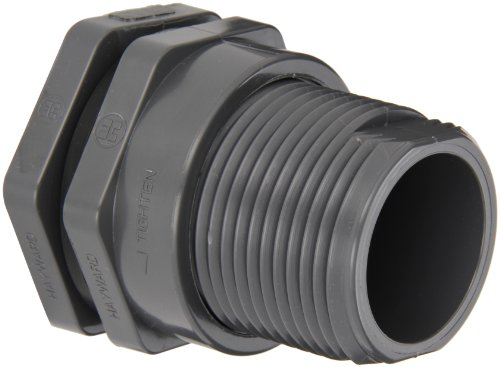 (Hayward BFA1015SES Series BFA Standard Flange Bulkhead Fitting, Socket x Socket End, PVC with EPDM Seals, 1-1/2