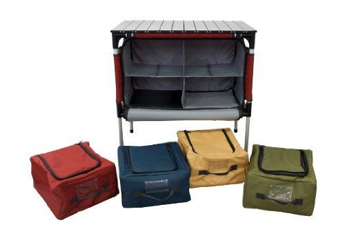 Camp Chef Mountain Series Sherpa, Organizer Table Campingtisch mit Staufächer
