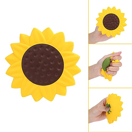 Sunflower Scented Charm Slow Rising Collection Squeeze Stress Reliever Toys