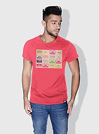 Creo Tapes Retro T-Shirts For Men - L, Pink