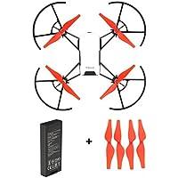 For DJI Tello Drone, Battery+Propellers,Mintu Intelligent Flight Battery 1100 mAh 3.8V + 4PC Propellers (red)