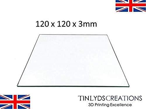 120 x 120 x 3 mm redondo cristal de borosilicato calor Temp cama ...