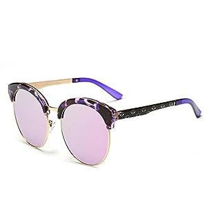 Women's Sunglasses Cats Eyewear Women A D7847,Black stripe frame double gray C337