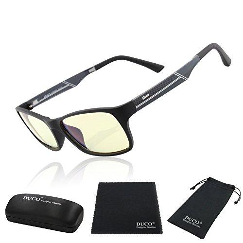 524e4355fa Blue Light Blocking Glasses for Video Games Duco 223 Anti-Glare Anti-Fatigue  Anti
