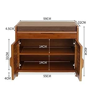 Organizador de zapatos de madera almacenamiento gabinete for Gabinete de zapatos para la entrada