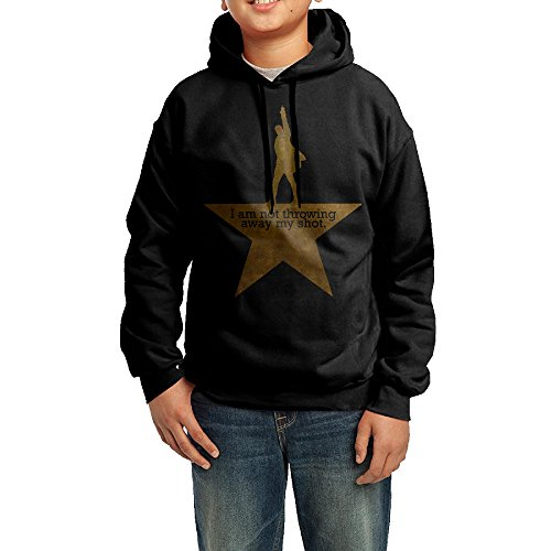 Alexanders Costumes Size Chart (YHTY Youth Boys/Girls Hoodie I Am Not Throwing Away My Shot Black Size M)