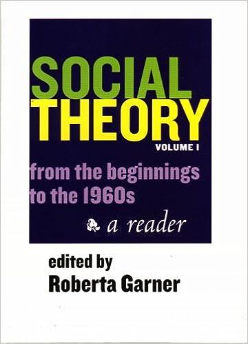 Recherche ebooks téléchargement gratuit Social Theory: From The Beginnings To The 1960s, A Reader CHM 1551116634 by Roberta Garner