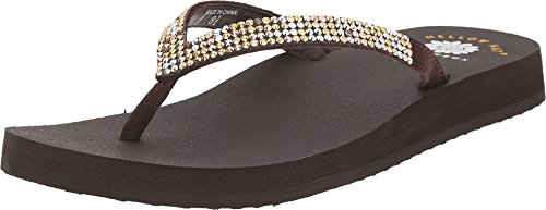 Yellow Box Women's Ricki Brown Multi Sandal 6 M (Yellow Box Flip Flops Brown compare prices)