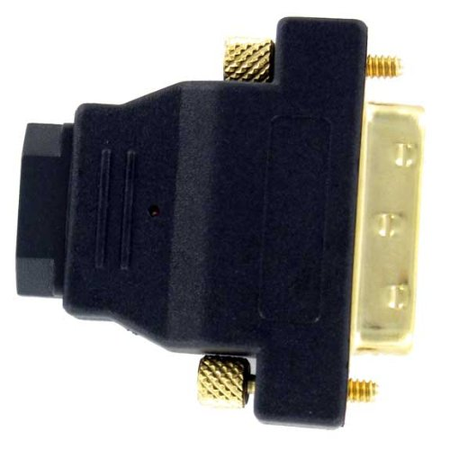 DVI Male to HDMI Female Adapter Gold Plate