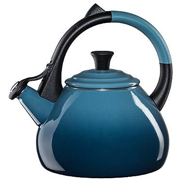 Le Creuset Enameled Steel 1.6 Quart Oolong Tea Kettle, Marine
