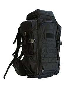Eberlestock HalfTrack Military Pack w/Tunnel Pockets & D-Rings, Black F3MB
