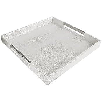 Amazon Com American Atelier 1630006 White Amp Gray Square