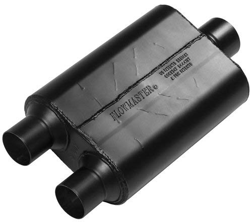 Inlet Series - Flowmaster 425403 40 Series Muffler - 2.50 Dual Inlet / 3.00 Center Outlet - Aggressive Sound Exhaust Muffler 40 Series Muffler - 2.50 Dual In / 3.00 Center Out - Aggressive Sound