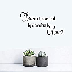 Gisuta Wall Stickers Art Decor Decals Time is Not Measured by Clocks But by Moments for Living Room Bedroom Home Decor