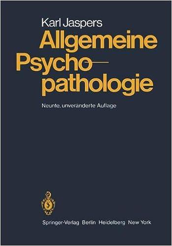 Book Allgemeine Psychopathologie