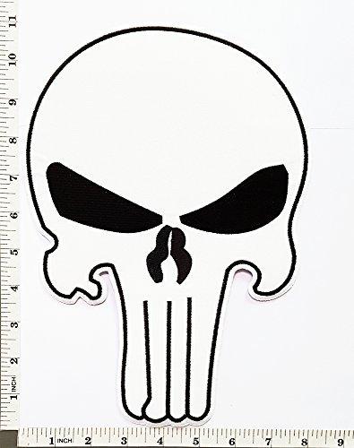Big Jumbo Large Big Huge Jumbo Punisher Skull Hero Motorcycle Biker logo patch Jacket T-shirt Sew Iron on Patch Badge Embroidery