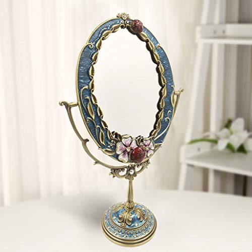 SDK Dressing Table Mirror, Single-sided Mirror 180 Degree Rotation Makeup Mirror for -