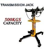 Heavy Duty 2 Stage Vertical hydraulic transmission jack up to 500kg w/ 360° Swivel Wheels Lift Hoist