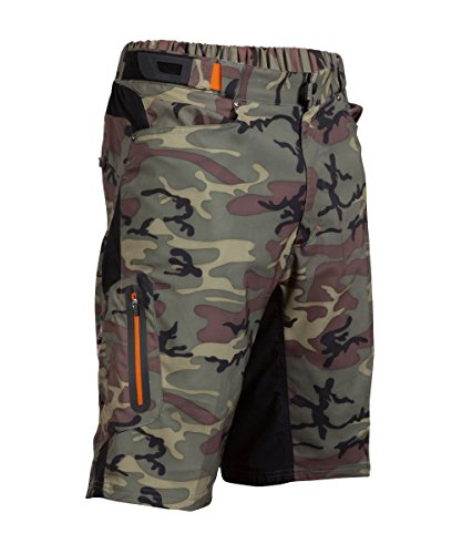 ZOIC Boy's Ether Jr. Shorts, Green Camo, Large by ZOIC