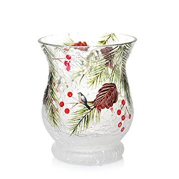Yankee Candle First Frost Hurricane Votive Candle Holder