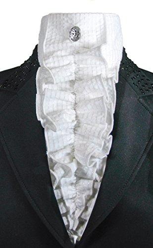 Equi Logic Dressage Silver Thread Tux Stock Tie - Coat Riding Grand Prix