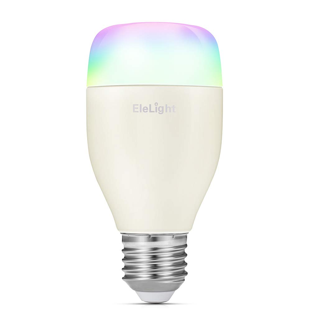 Smart WiFi LED Light Bulb, EleLight E27 7W Multi-Color RGBW Night Light Dimmable Light Bulb with APP Remote Control, Works with Amazon Alexa & Google Assistant for Home Party Lighting