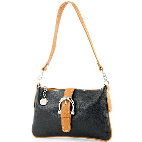 sac véritable main cuir à Sac Camel sac Schwarz T05 messager italien besace A850g