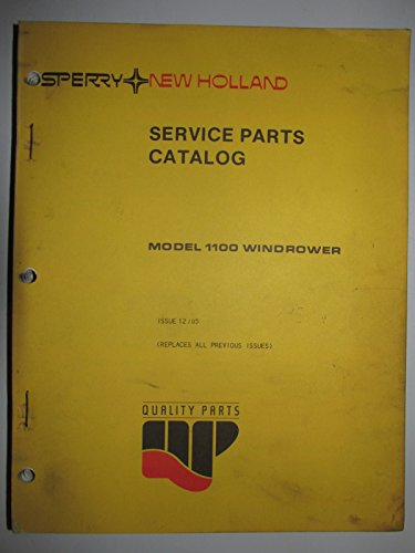 (New Holland 1100 Windrower Parts Catalog Book Manual 12-85)
