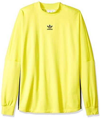 's Authentics Long Sleeve Goalie Jersey, Shock Yellow/Collegiate Navy, S ()