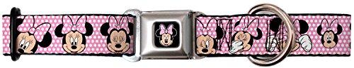 Buckle Down Walt Disney Movies TV Shows Minnie's Polka Dots Seatbelt Fun Pet Dog Cat Collar