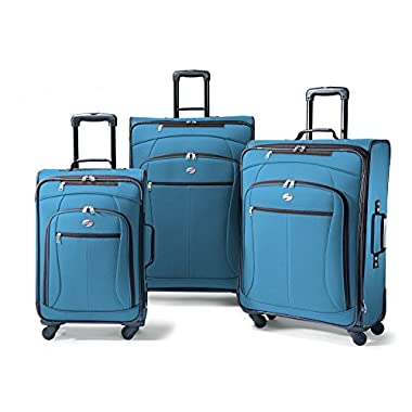 American Tourister Luggage AT Pop 3 Piece Spinner Set (One Size, Moroccan Blue)
