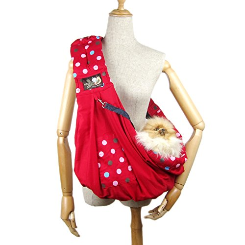 Alfie Pet by Petoga Couture - Hollis Pet Sling Carrier with Adjustable Strap - Color: Red by Alfie (Image #9)