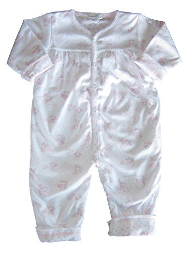 Playsuit Reversible (Kissy Kissy Baby-Girls Infant Little Super Star Reversible Playsuit-White With Pink-12-18 Months)